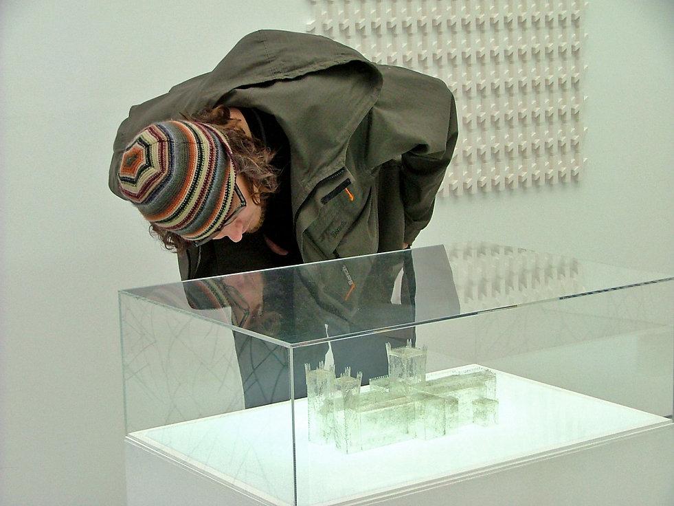 Sculpture, contemporary art, model, hair, wax, religion