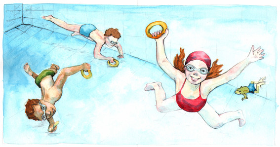 Diving for rings