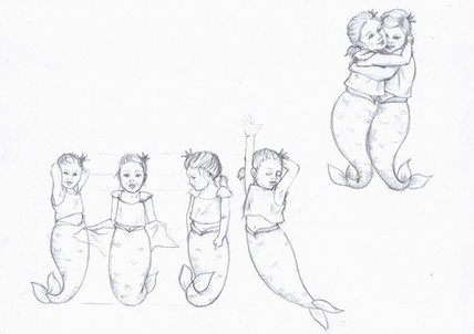 Mermaid character sketches