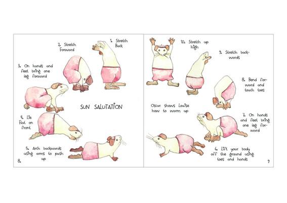 Guinea Pigs doing Sun salutation