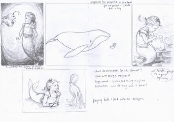 possible page layouts for mermaid story