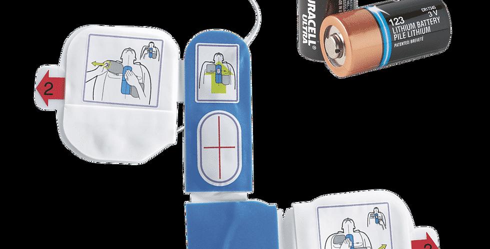 AED Plus batterier + CPR-D Padz elektrode