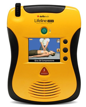Defibtech Lifeline View Hjertestarter forfra