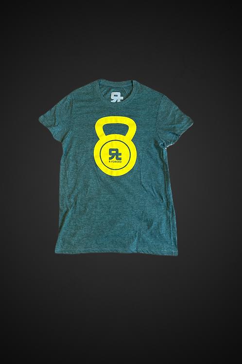 T-Shirt Kettlebell Logo Man (Verde/Giallo)