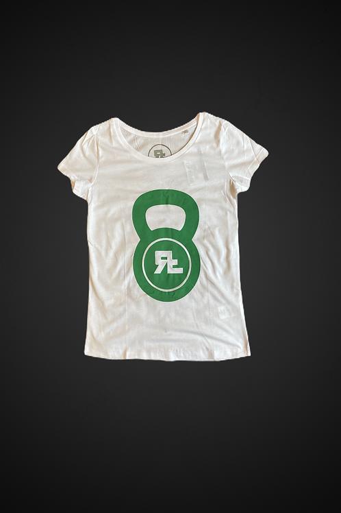 T-Shirt Old Kettlebell Logo (WH/Green)