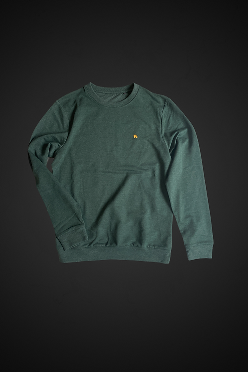 Felpa R-F Man (Heather Dark Green)