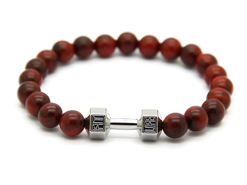 Bracciale Fitness Natural RedSilver