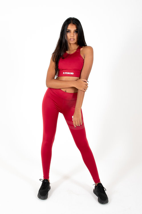 Leggins & Top R-F Quick Dry (Red)