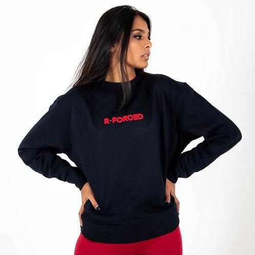 Felpa R-Forced Woman (Blue Navy/Red)