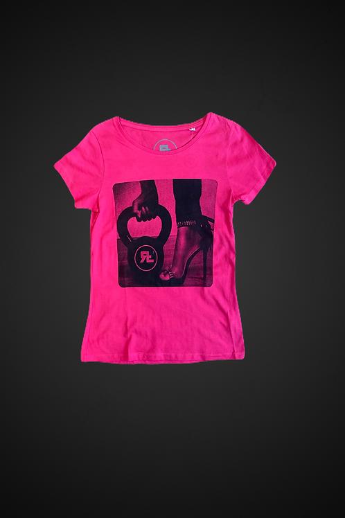 T-Shirt Tacco & Kettlebell (Pink)