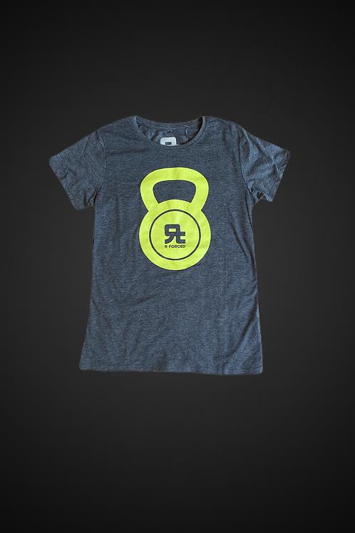 T-Shirt Kettlebell Logo WM (Grigio/Verde)