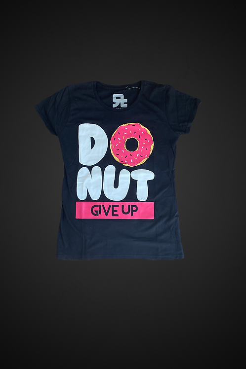 T-Shirt Donut Give Up (Black)