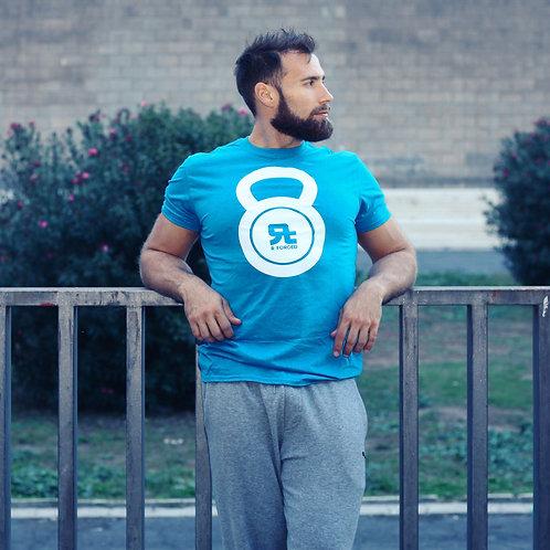 T-Shirt RF Kettlebell Logo (Blue/WH)