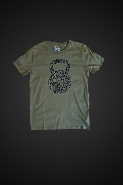 T-Shirt Human Kettlebell (Green Bottle)