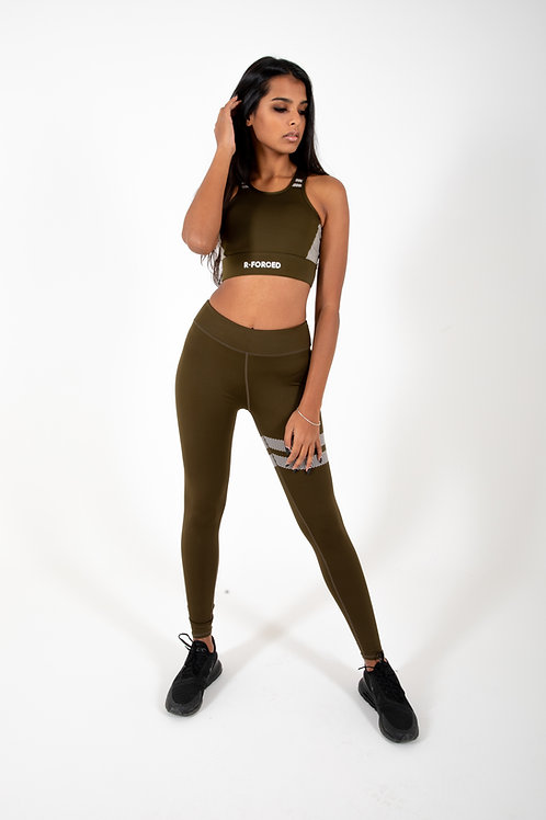 Set Leggins & Top R-F Quick Dry (Green)