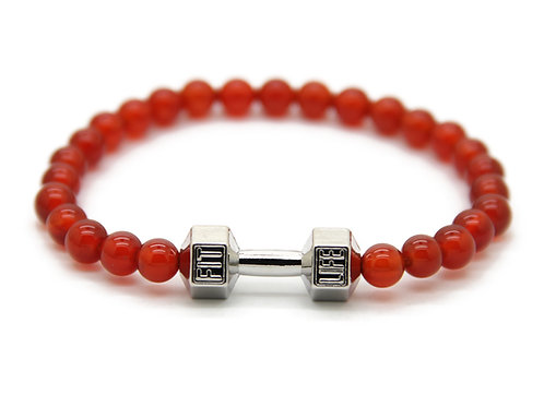 Bracciale Fitness Red Silver