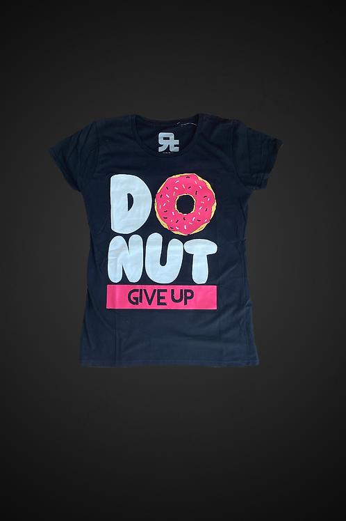 T-Shirt Donut Give Up Black (WM)