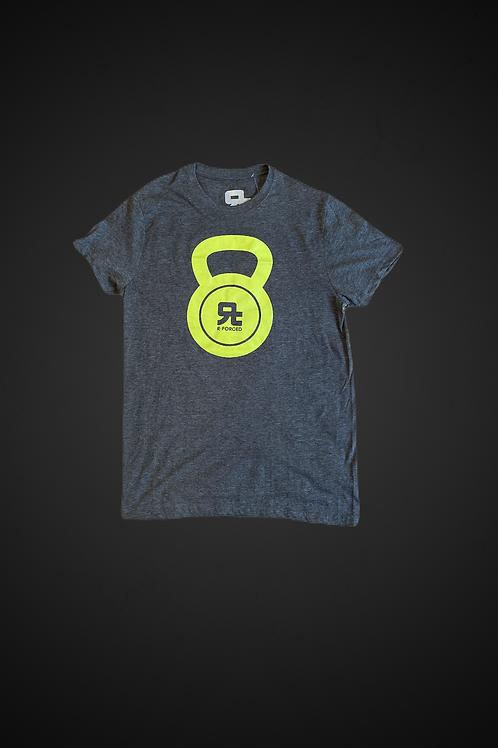 T-Shirt Kettlebell Logo Man (Grigio/Verde)
