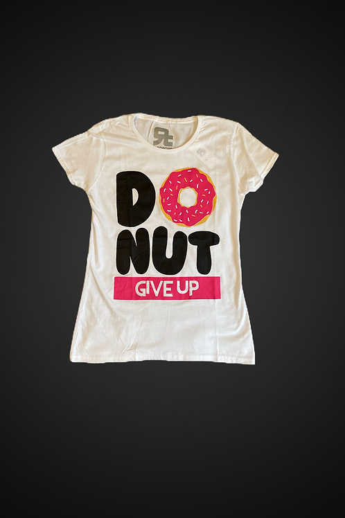 T-Shirt Donut Give Up (White)