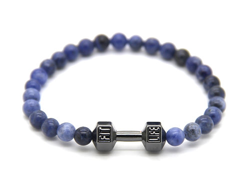 Bracciale Fitness Blue/Gun Black