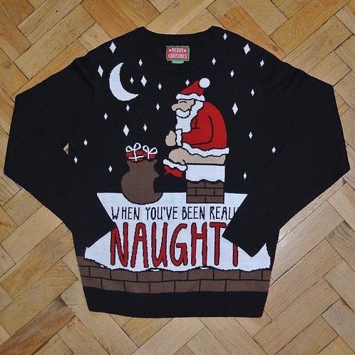 BLACK & WHITE NOVELTY CHRISTMAS JUMPER.