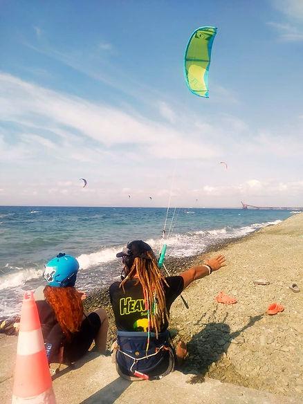 kitesurf instructor , beach, kite lessons