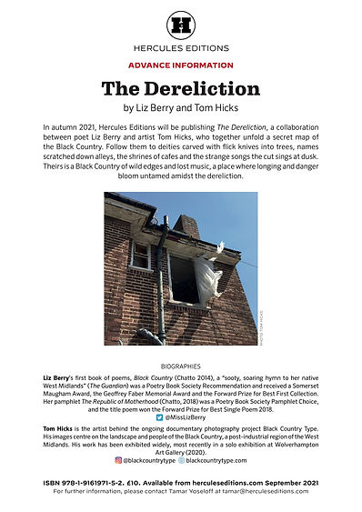 The Dereliction - Liz Berry and Tom Hick