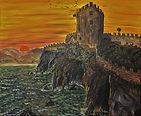 Il castello ventoso (1998) - olio su tel