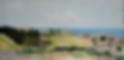 panorama di catanzaro lido (1988) - tempera su cartoncino - cm 80 x 50