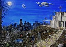 panorama dalla terra (2018) - olio su tela - cm 70 x 50