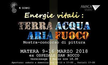 Mostra collettiva Energie Vitali Terra Acqua Aria Fuoco