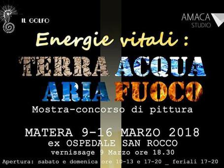 """Mostra-concorso """"Energie vitali: terra,acqua,fuoco,aria"""""""