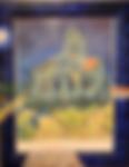 Van Gogh, la chiesa di AUVERS (1999) - olio su cornice legno - cm 32 x 41