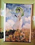 Monet (2000) olio su cornice legno - cm 32 x 41