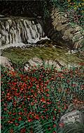 le cascatelle (1992) - tempera su cartoncino - cm 40 x 30