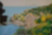 panorama rinella isole eolie (1989) - tempera su cartoncino - cm 56 x 42