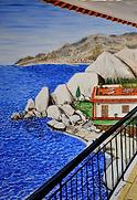 la villetta sul mare (2014) - olio su tela - cm 50 x 70
