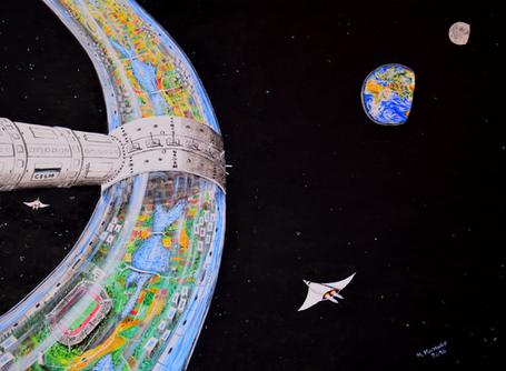 """Pubblicazione dell'opera """"Isola di vita nello spazio"""" nell'annuario degli artisti"""