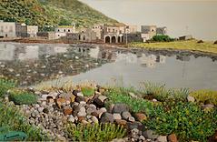 paesaggio di salina (1991) - tempera su cartoncino - cm 55 x 45