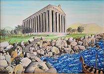 il tempio di hera lacinia (1995) - olio su tela - cm 70 x 50