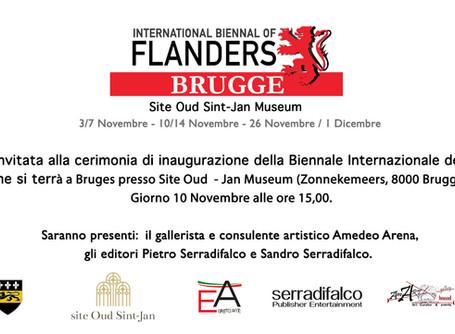 """invito alla prima mostra internazionale """"Biennale delle Fiandre"""""""