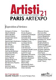 locandina artisti presenti galleria Parigi