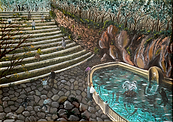 scalinata serra san bruno (1993) - olio su tela - cm 70 x 50