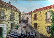 Centro storico grande (1997) - olio su tela - cm 50 x 70
