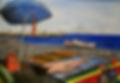 spiaggia di catanzaro lido (2004) - olio su tela - cm 70 x 50