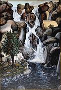 cascata ripida (1995) - olio su tela - cm 50 x 70