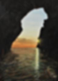 Riflessi nella grotta (2018) - olio su tela