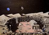 panorama dalla base lunare (2017) - olio