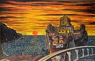 castello sul mare (1999) - olio su tela - cm 70 x 50