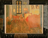 Van Gogh, la camera ad ARLES (1999) - olio su cornice legno - cm 41 x 32